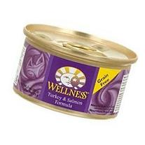 Wellness Natural Grain Free Wet Canned Cat Food, Turkey &