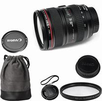 Canon EF 24-105mm f/4L IS USM Celltime Zoom Lens Kit for