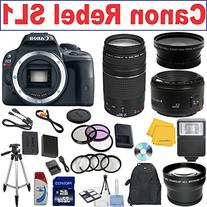 Canon Rebel SL1 Digital SLR Camera w/ Canon EF 75-300mm f/4-