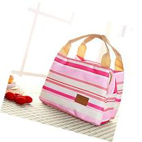 Canvas Picnic Lunch Bag Tote Insulated Cooler Travel Zipper