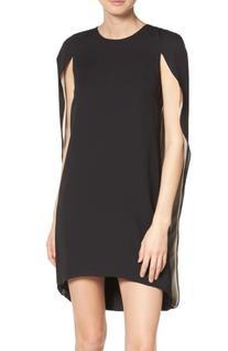 Women's Halston Heritage Cape Dress, Size 0 - Black