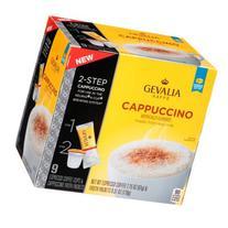 Gevalia Cappuccino Espresso Coffee Cups & Froth Packets, 9