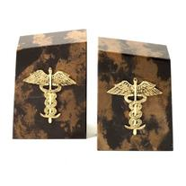 Cappuccino Marble Medical Bookends