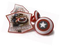 Captain America Super Heroe Cupcake Rings 12 ct