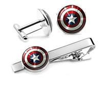 Captain America Tie Clip, The Avengers Jewelry, Shield