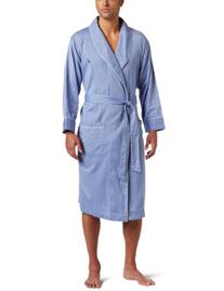 Nautica Men's Captains Herringbone Woven Shawl Collar Robe,