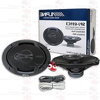 Alpine 6x9-inch 6x9 3-Way Car Audio Coaxial Speakers