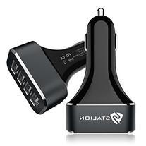 Car Charger: Stalion 4-Port Multiple USB Rapid Travel