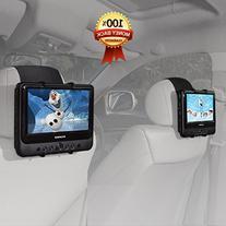 TFY Car Headrest Mount Holder for SYLVANIA SDVD9805 Portable