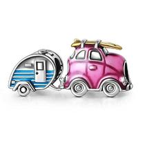 Soufeel Travel Car Charms 925 Sterling Silver Have a Trip