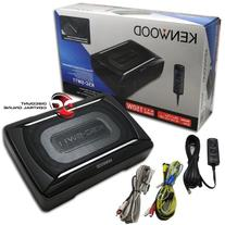 Kenwood Car Under Seat Super Slim Powered Subwoofer Aluminum