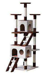 CARB-certified Merax Large Pet Cat Activity Tree Condo,