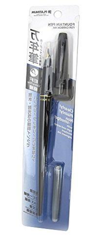 Platinum Carbon Desk Fountain Pen, Super Fine