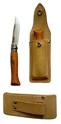 Opinel #10 Carbon Steel Folding Knife w/ Leather Sheath
