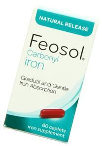 Feosol Carbonyl Iron Supplement Caplets Natural Release 60