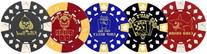 Card Cover Poker Chips Used as Card Guard - Total of 10