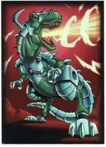 Max Protection 50 Count Standard Card Sleeves Robo T-Rex