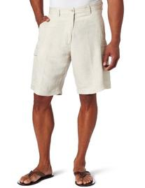 Cubavera Men's Cargo Short, Natural Linen, 34