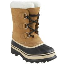 Sorel Kids Youth Caribou Boot ,Buff,7-7.5 M US Big Kid