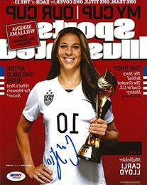 CARLI LLOYD AUTOGRAPHED 8X10 PHOTO TEAM USA PSA/DNA ITP