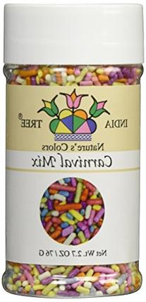 India Tree Nature's Colors Carnival Sprinkles, 2.7 Ounce