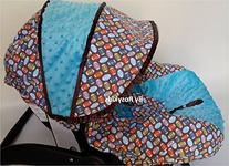 Rosy Kids Infant Carseat Canopy Cover 3 Pc Whole Caboodle