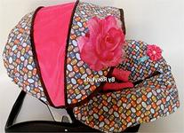 Rosy Kids Infant Carseat Canopy Cover 3pc Whole Caboodle,