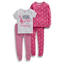 Carter's Girls 4 Piece Cotton Perfect Poodle Pajamas Set