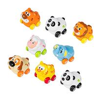 Cartoon Animals Friction Push and Go Toy Cars Play Set for