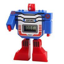 Fanmis Kids LED Digital Cartoon Sports Robot Transformation