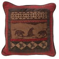 HiEnd Accents Cascade Lodge Bear Pillow