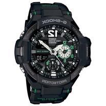 Men's Casio G-Shock Gravitymaster Black and Green Watch