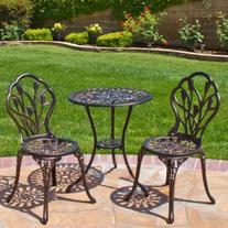 Best Choice Products Cast Aluminum Patio Bistro Furniture