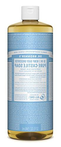 Dr. Bronner's Pure-Castile Liquid Soap - Baby Unscented,
