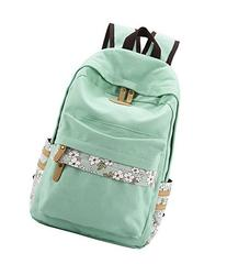 Winner Casual Style Canvas Backpack/School Bag/Travel Daypack Light Green