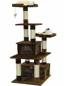 Go Pet Club Cat Condo, 67-Inch, Brown