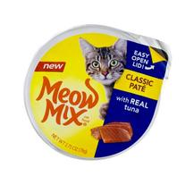 Meow Mix Cat Food Classic Pate Real Tuna, 2.75 OZ