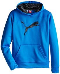 PUMA Boys' Big Cat Hoodie , Sky Blue, Large