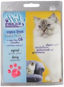Feline Soft Claws Cat Nail Caps Take-Home Kit, Large, Pink