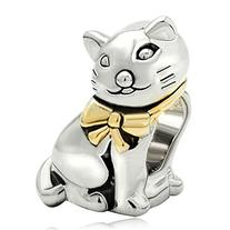 Mothers Day Gifts Pugster Cat Silver Plated Animal Bead Fit