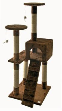 Go Pet Club 52-Inch Cat Tree, Brown