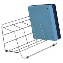 Fellowes Catalog Rack, 4 Compartment, Wire, Silver