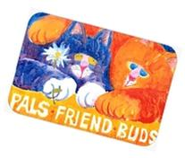 Cats Pals Friends Buds  Kitchen or Bath Mat 20x30