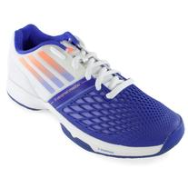 ADIDAS Women's CC Adizero Tempaia III Tennis Shoes White and