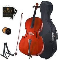 Cecilio CCO-100 Student Cello with Hard & Soft Case, Stand,