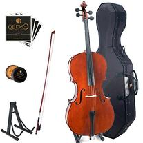 Cecilio CCO-200 Solid Wood Cello with Hard & Soft Case,