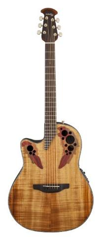 Ovation CE44P-FKOA Acoustic-Electric Guitar, Figured Koa