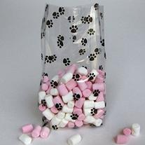 Cello Bags Paw Prints Large - Pack of 20