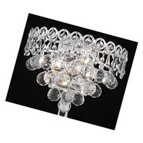 Century 2 Light Wall Sconce with Four Crystal Trims - Finish