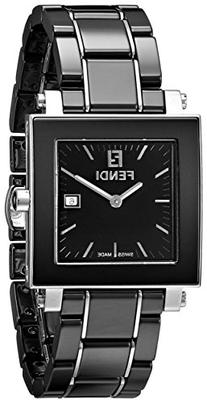 Fendi Women's F621110 Ceramic Analog Display Quartz Black